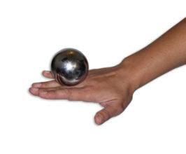 Jolly Lama Chrome Contact Juggling Sphere