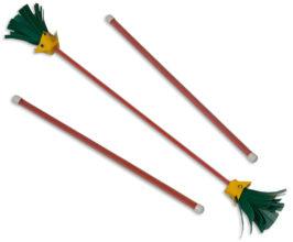 Jolly Lama's red Jolly Jr beginner juggling sticks